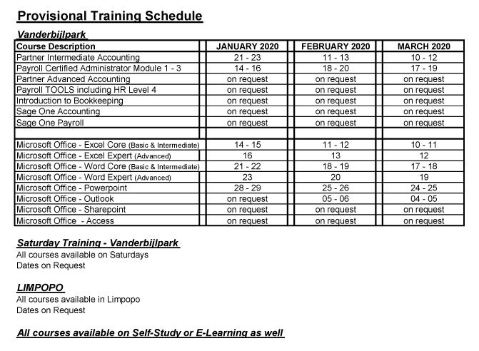 Website-Training-Schedule